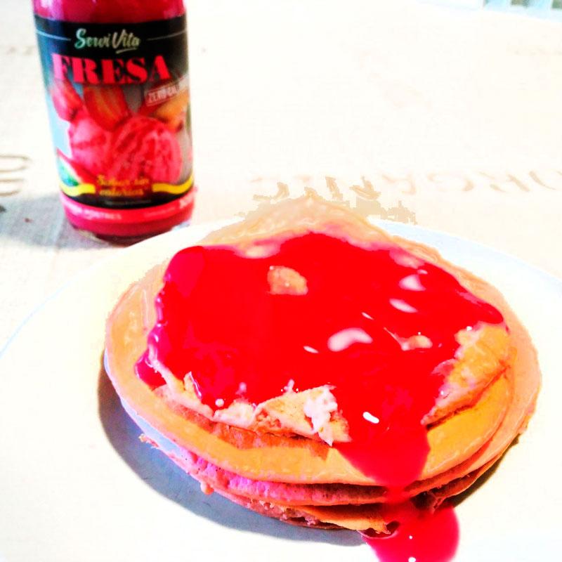 tortitasdefresa_log Tortitas Fitness con sirope de fresa
