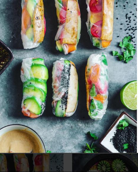 Rollitosdearrozconverduras Rollitos veganos con papel de arroz