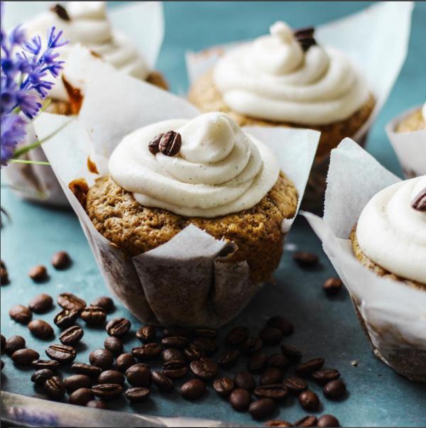 Muffinsexpresso Espresso Muffins con crema de mantequilla