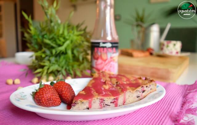 bizcocho-avena-fresas-2 Bizcocho de fresa fitness