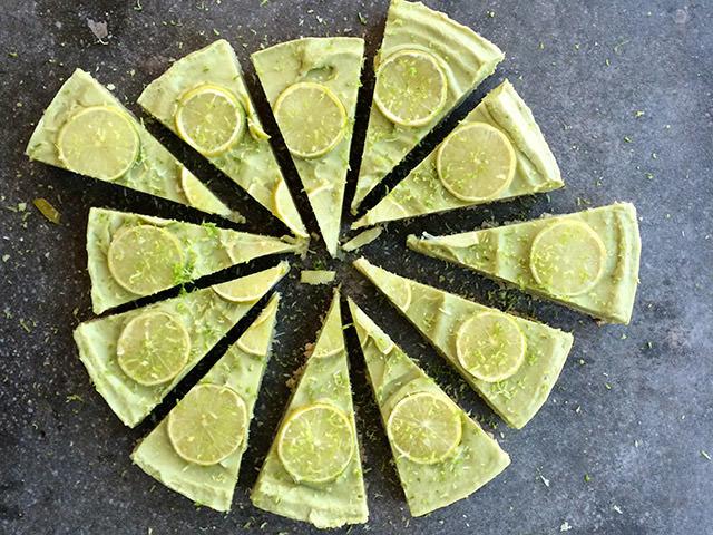 Tarta-de-lima Fitcake fría de lima y coco