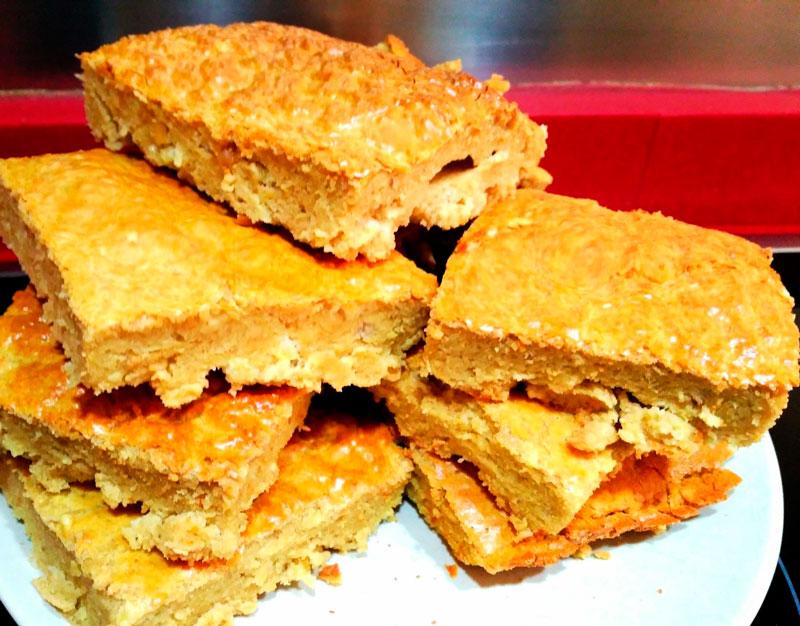 bizcocho-cacahuete Bizcocho de cacahuete alto en proteína