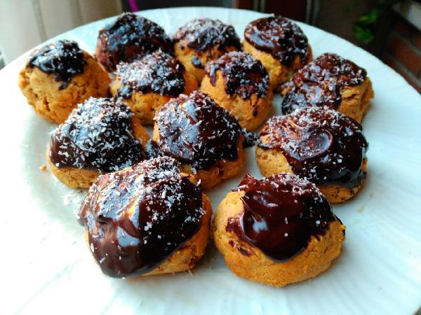 buñuelitos Buñuelos proteicos de chocolate