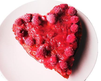 bizcocho de San Valentín
