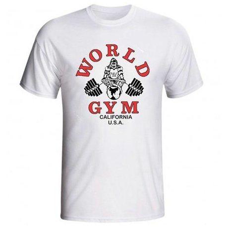 camiseta-world-gym-manga-corta-blanca1 ¿Qué ropa llevar al gimnasio?¿Qué ropa usar para entrenar?