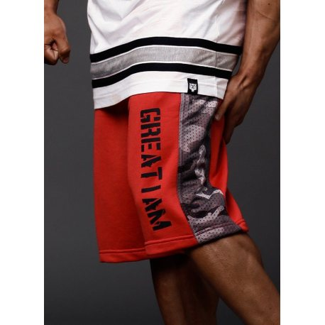 great-i-am-pantalon-corto-rojo-camu1 ¿Qué ropa llevar al gimnasio?¿Qué ropa usar para entrenar?