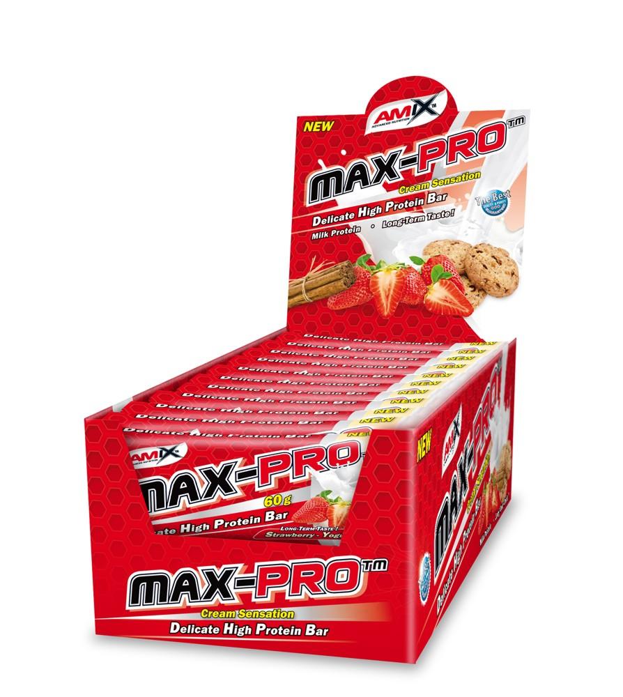 amix max pro protein barritas 60g imagen