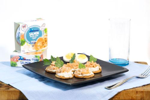 salmón noruego dumon en su salsa lata 170 gramos fitness comida sana
