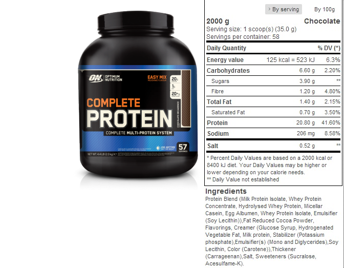 OPTIMUM NUTRITION COMPLETE PROTEIN 500g