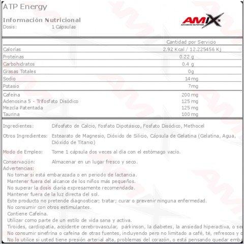 amix atp energi etiqueta