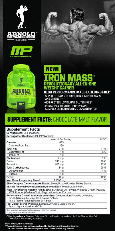 IRON MASS MUSCLEPHARM TIENDACULTURISTA