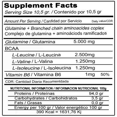 aminopower qxn 300 etiqueta