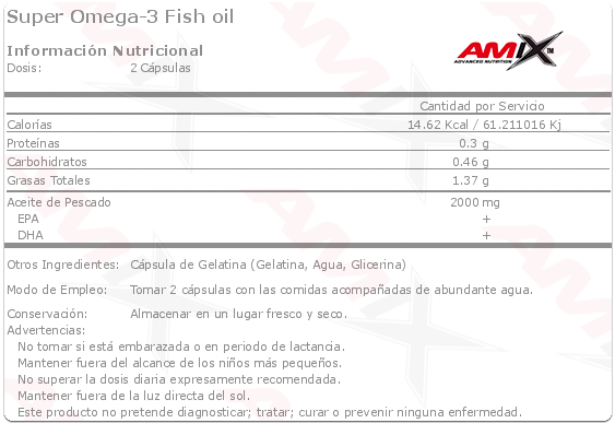amix super omega 3 fish oil etiqueta