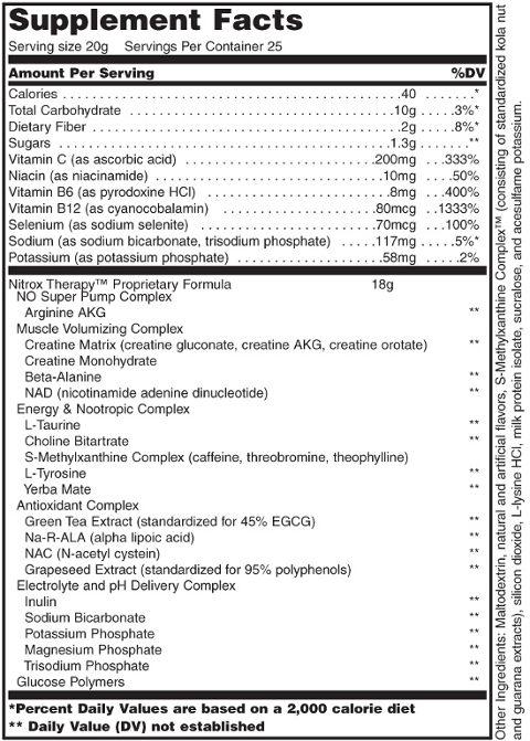 biotech nitrox therapy etiqueta