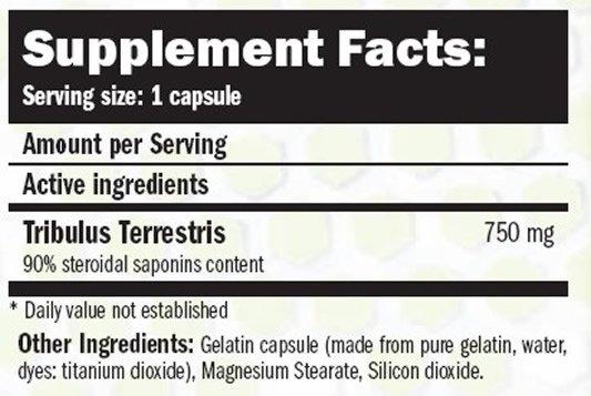 amix tribulyn 90 capsulas etiqueta