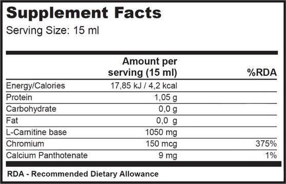 biotech usa l-carnitine +cromo 500 ml