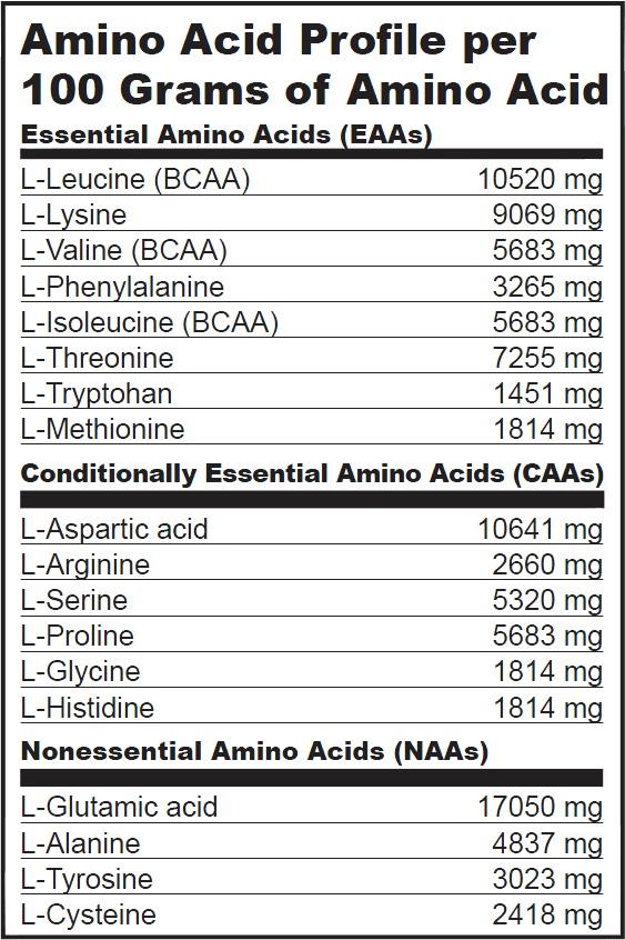 biotech mas gain plus aminoacids
