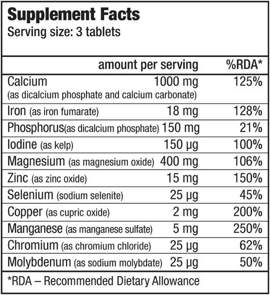 biotech muli mineral complex 100 tabs