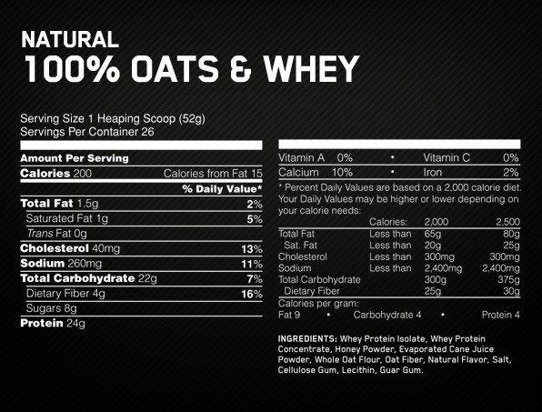 <H2>OPTIMUM NUTRITION OATS WHEY 3 LB. n</h2> <br><p><strong> OPTIMUM NUTRITION OATS WHEY 3 LB. es posiblemente la primera vez que hayas visto harina de avena con proteína de máxima caliad de suero de leche, consiguiendo un batido super completo con toda la energía y nutrientes de la avena y la proteína. <br> OPTIMUM NUTRITION OATS WHEY la harina de avena produce en el organismo el aporte de energía al organismo de forma constante. OATS WHEY es el suplemento ideal para poder sustituir cualquier comida gracias a sus cantidades de nutrientes </strong></p><h2>Presentación de OPTIMUM NUTRITION OATS WHEY</h2><p> envase de</p>