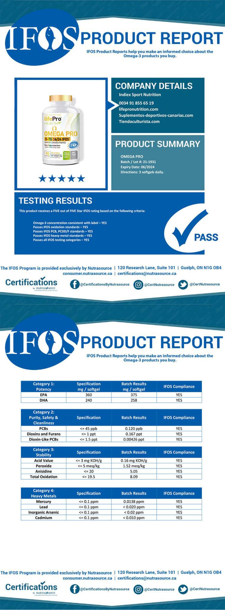 Certificación IFOS