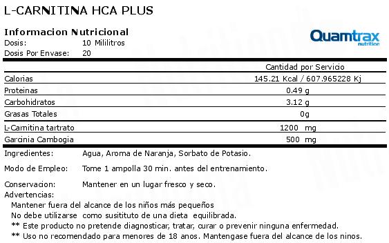 quamtax l-carnitina hca plus etiqueta
