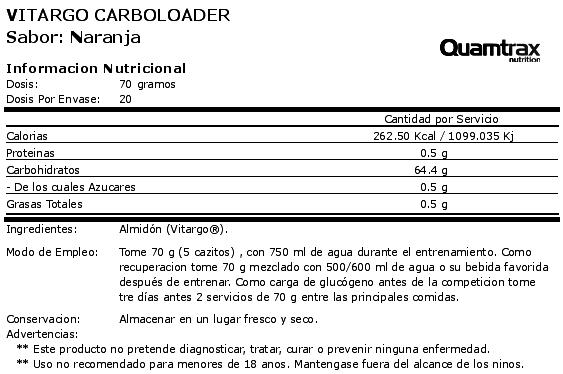 quamtrax vitargo carboloader