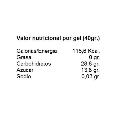 quamtrax energy gel 40 gramos etiqueta