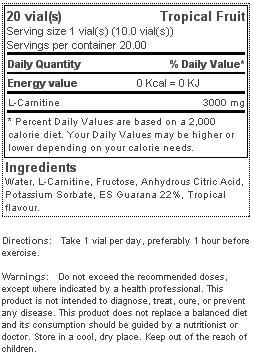 quamtrax l-carnitine 3000 viales etiqueta