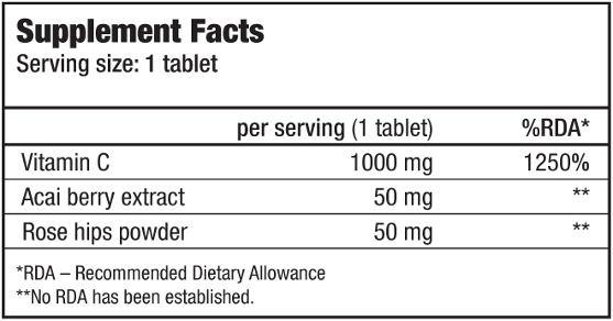 biotech vitami c1000 100 tabas