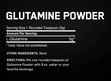 OPTIMUM NUTRITION GLUTAMINE POWDER fact