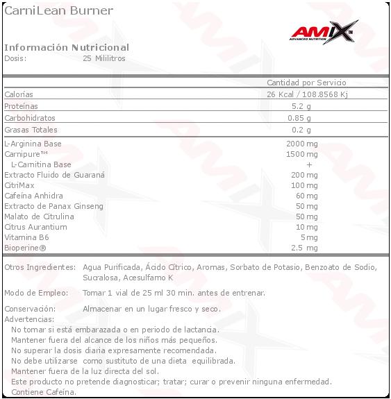 amix carnilean viales etiqueta