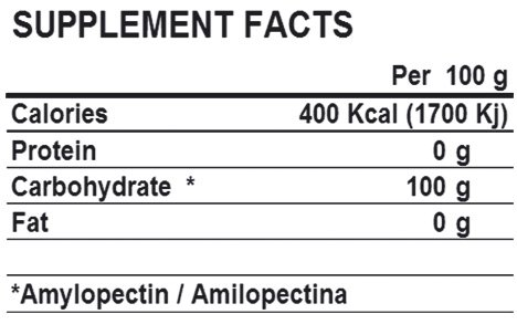 life pro pure waxy 2kg supplement facts