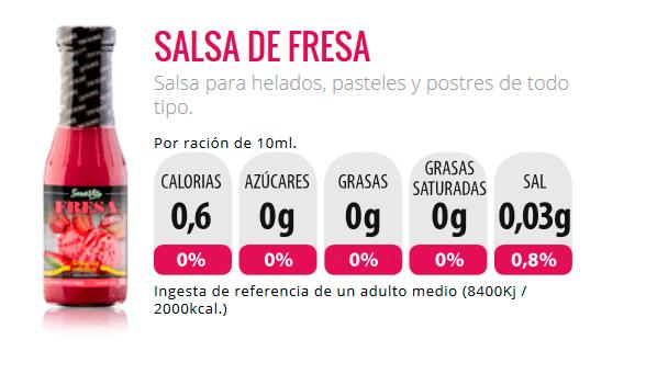 salsa servivita zerocalorias fresa sirope tiendaculturista
