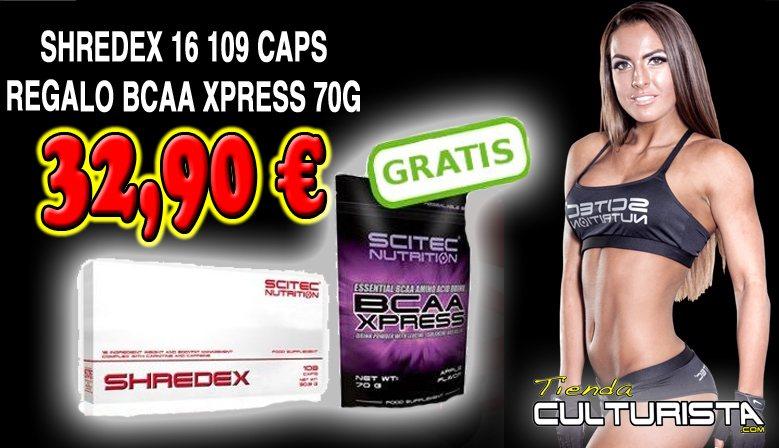 OFERTA SCITEC SHREDEX + SCITEC BCAA XPRESS