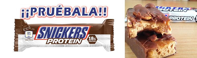 Snickers Barrita energética proteica