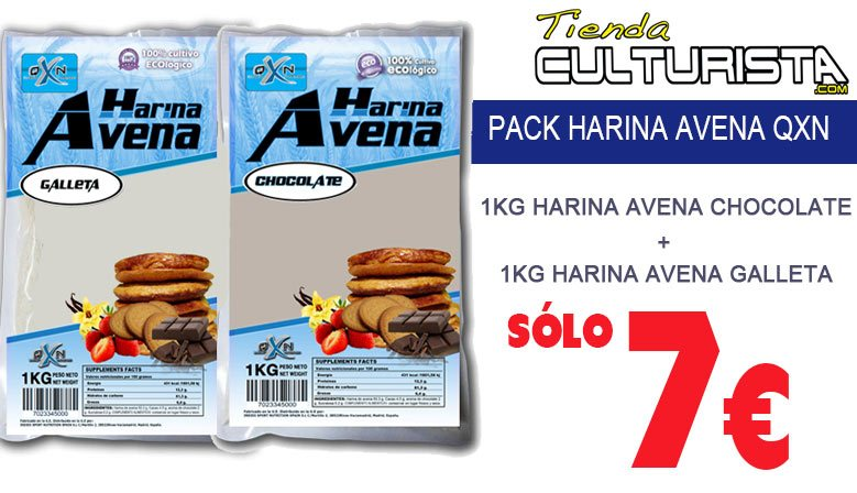 PACK LOTE 2 HARINAS DE AVENA 1KG QXN CHOCO-GALLETA